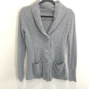 Sweaters - Soft Knit Grey Slim Fit Cardigan with Pockets